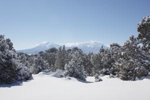 Winter Spanish Peaks